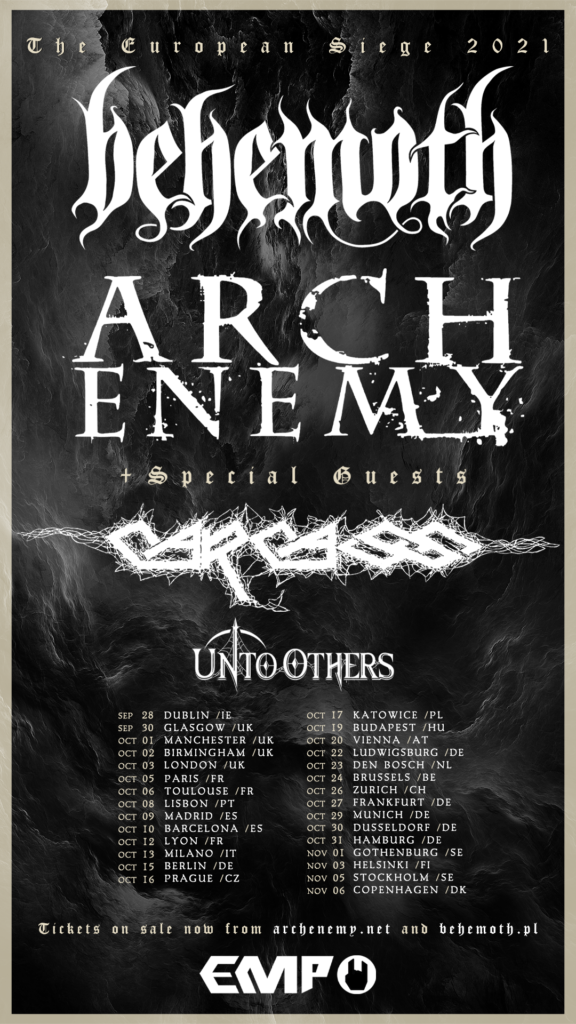 Behemoth Arch Enemy Tournee