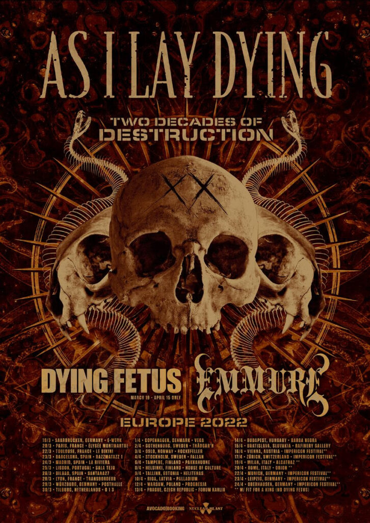 As I Lay Dying Tour